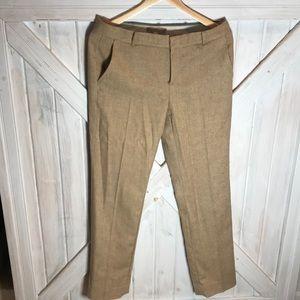 Banana Republic brown/cream tweed trouser pants